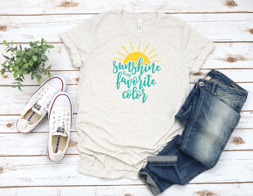 SUNSHINE FAVE COLOR UNISEX T-SHIRT - orangeshine.com