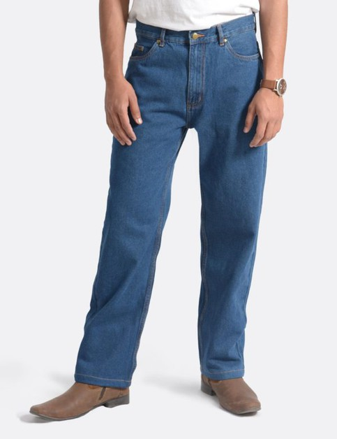 Mens Worker Denim Pants Regular Fit - orangeshine.com