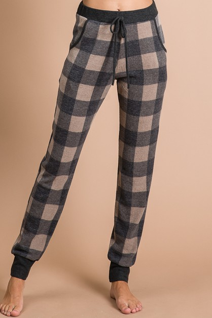 PLAID DRAWSTRING PANTS -T3625 HOODIE - orangeshine.com