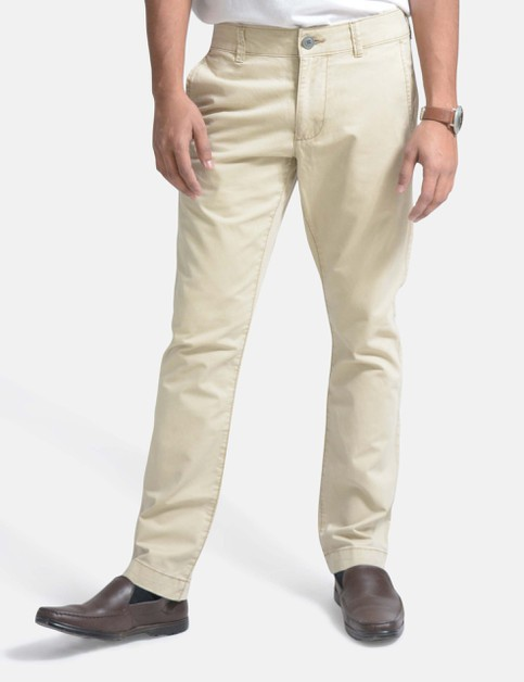 Mens Chino Pants Flat Front Slim Fit - orangeshine.com