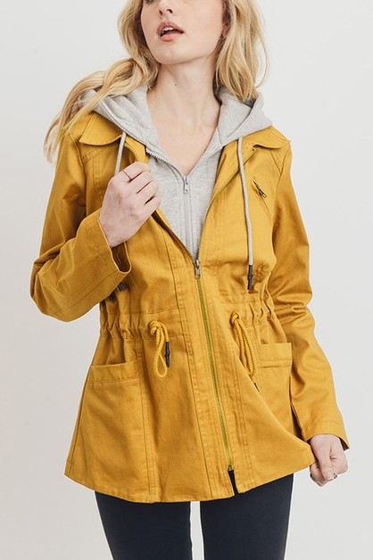 FLEECE INSERT ANORAK JACKET  - orangeshine.com
