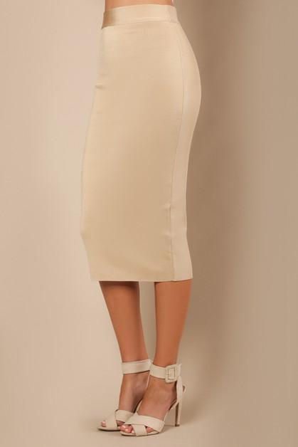 Midi Knitted Bandage Skirt - orangeshine.com