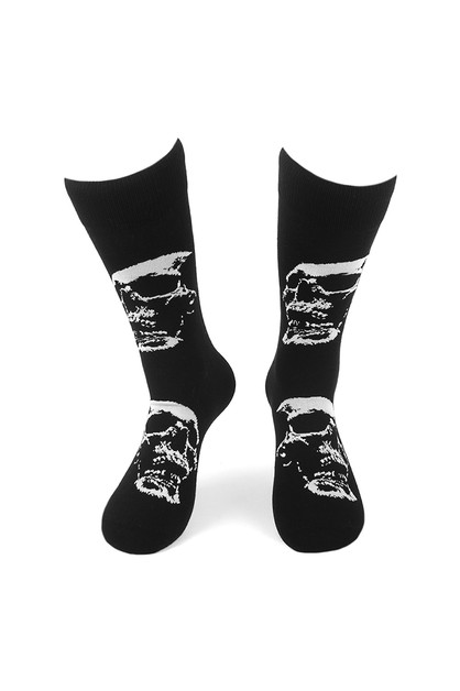 Mens Skull Halloween Novelty Socks - orangeshine.com