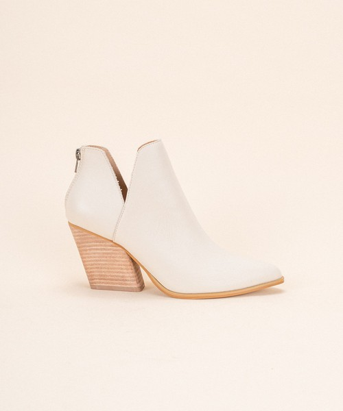 Ankle Flair Western Stacked Bootie - orangeshine.com