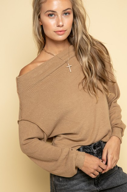 Kara Rib Sweater - orangeshine.com