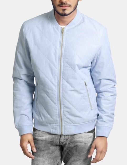 Padded Quilted Bomber Jacket - orangeshine.com