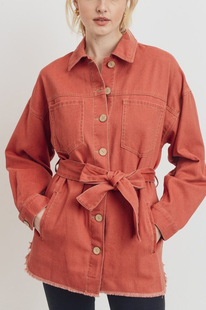 JACKET WITH BELT  - orangeshine.com