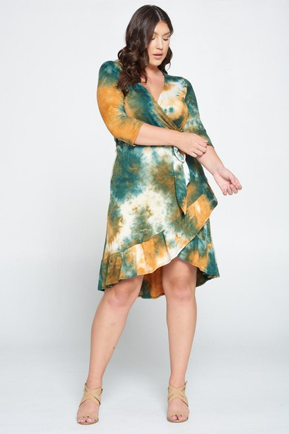 TIE DYE KNIT DRESS - orangeshine.com