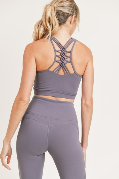 Racer Dragon Braid Sports Bra - orangeshine.com