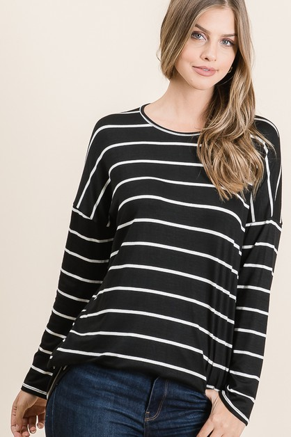LOOSE FIT STRIPE TUNIC - orangeshine.com