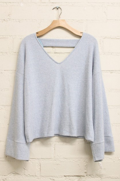 Solid Knit Cropped Sweater - orangeshine.com