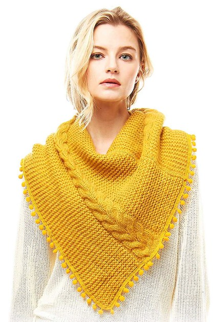 CUTE POM POM TUBE SCARF SHAWL - orangeshine.com