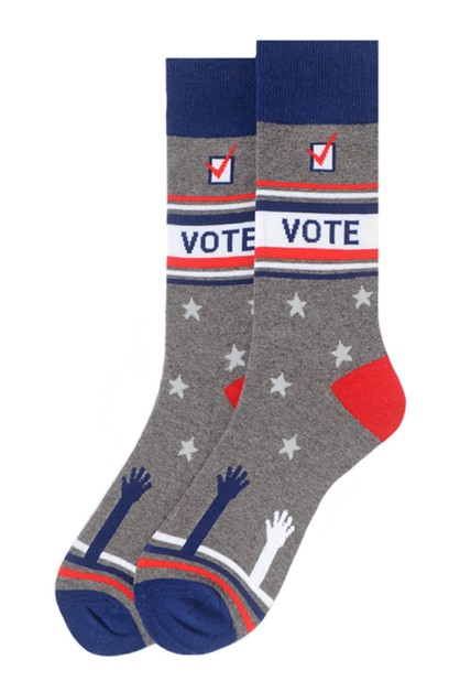 Mens Vote Novelty Socks  - orangeshine.com