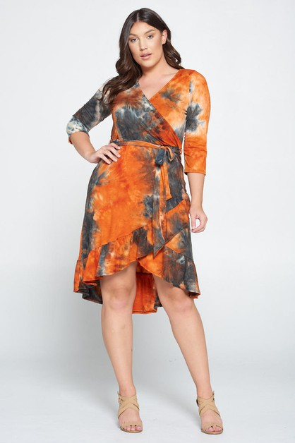 TIE DIE KNIT DRESS - orangeshine.com