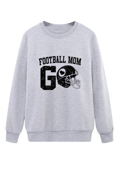 FOOTBALL MOM CREW NECK SWEATER - orangeshine.com