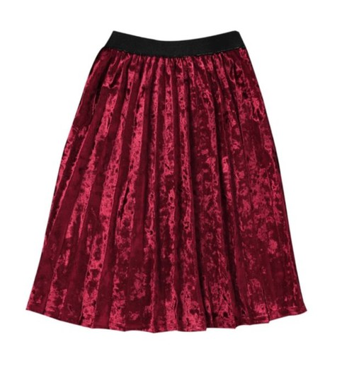 Girls pleated velvet skirt - orangeshine.com