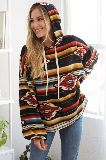 Fun striped hoodie - orangeshine.com