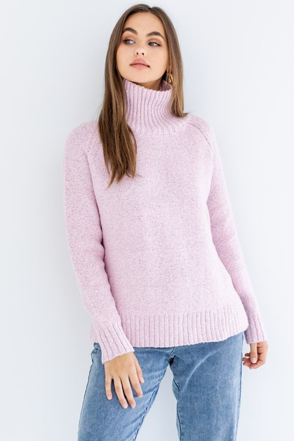 Mock Neck Sweater - orangeshine.com