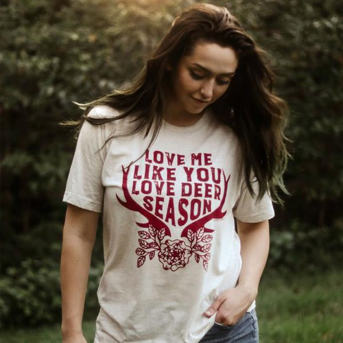 LOVE ME LIKE LOVE DEER SEASON TEES - orangeshine.com