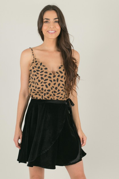 Black Velvet Wrap Skirt - orangeshine.com