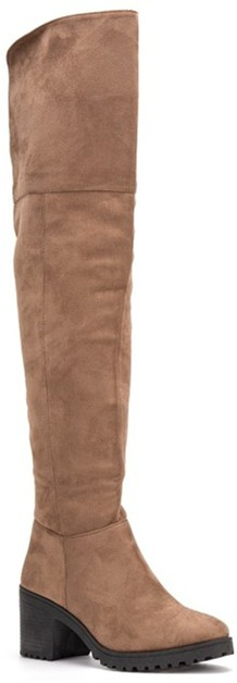 Low Block Heel Knee Boot - orangeshine.com