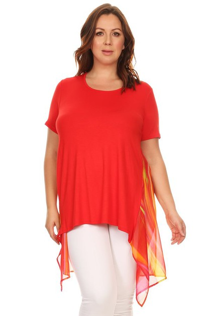 Long body short sleeve top - orangeshine.com
