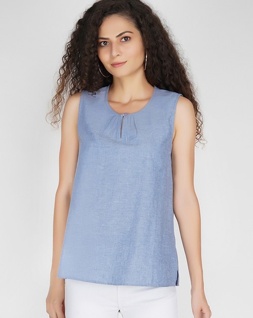 Chambray Top - orangeshine.com