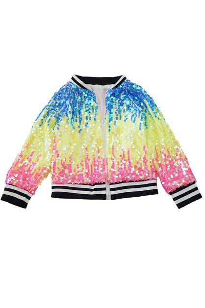 Tie dye sequins jacket - orangeshine.com