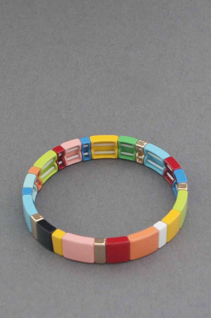 MULTI COLOR  STRETCH BRACELET - orangeshine.com