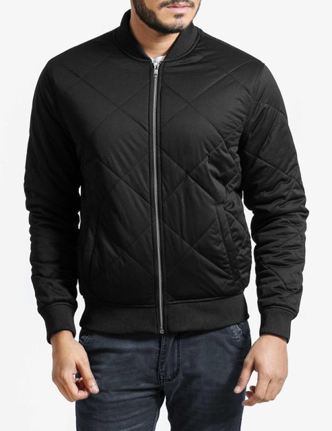 Quilted Bomber Jacket - orangeshine.com