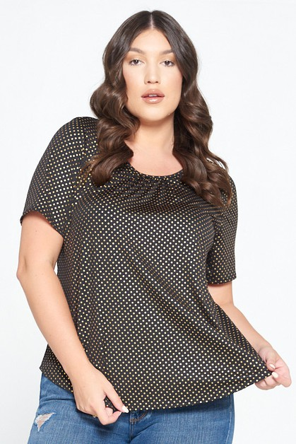 NEW POLKADOTZ KNIT TOP - orangeshine.com
