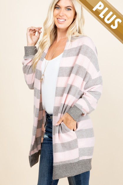 PLUS SIZE SIDE POCKETED AND STRIPED  - orangeshine.com