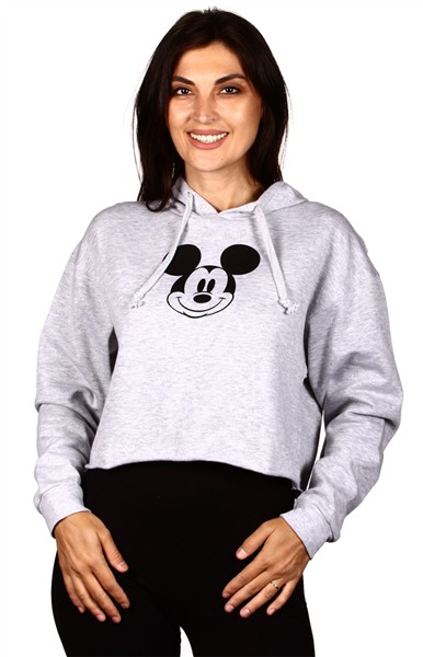 GREY MICKEY  SMALL FACE HOODIE - orangeshine.com