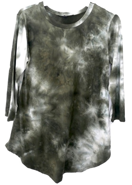 Tie Dye Quarter Sleeve Top - orangeshine.com