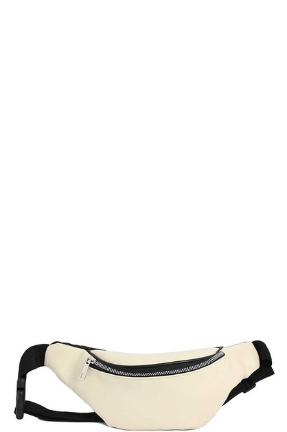 FASHION CHIC MODERN PLAIN FANNY PACK - orangeshine.com