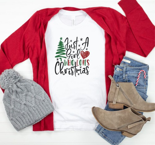 Just A Girl Who Loves Christmas Tee - orangeshine.com