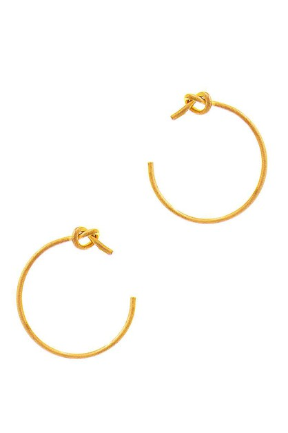 STYLISH UTE KNOTTED OPEN HOOP EARRIN - orangeshine.com