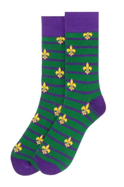 Men Mardi Gras Novelty Socks - orangeshine.com