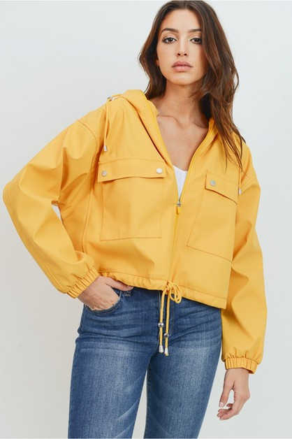 Zip-up jacket with pockets - orangeshine.com