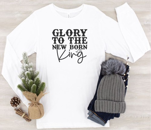 Glory To The New Born King LS Tee - orangeshine.com