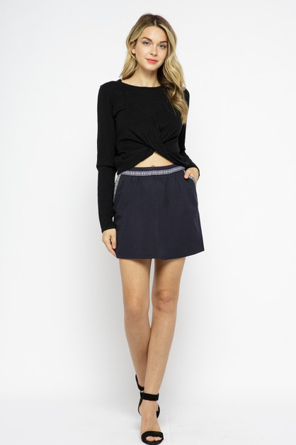 High Waisted Mini Skirt - orangeshine.com