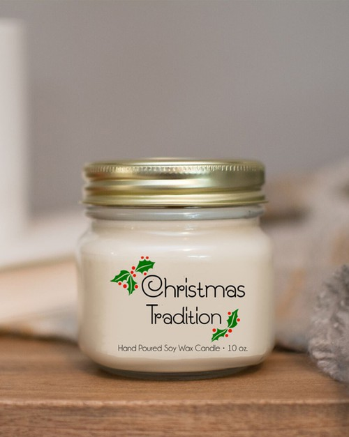Christmas Scent 10oz Soy Wax Candles - orangeshine.com