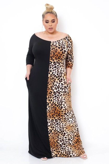 Plus Size Marcela Maxi Dress - orangeshine.com