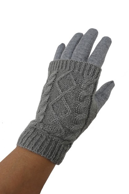 Phone Touch Grip Fur Lined Gloves - orangeshine.com