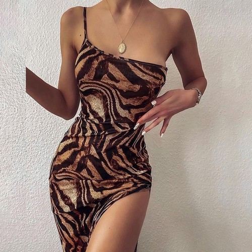 Kira One Shoulder Cami Dress  - orangeshine.com