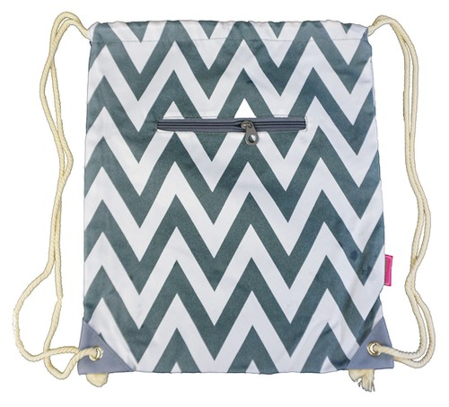 Chevron Drawstring Backpack Cinch - orangeshine.com