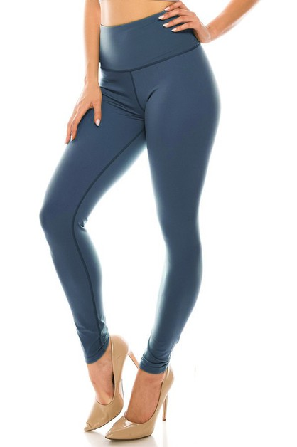 Solid plain yoga legging - orangeshine.com