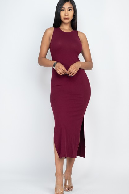 Knit Maxi Dress - orangeshine.com