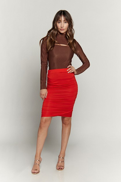 RUCHED SKIRT - orangeshine.com