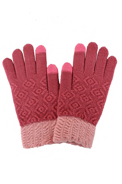 Color Blocked Touchscreen Gloves - orangeshine.com